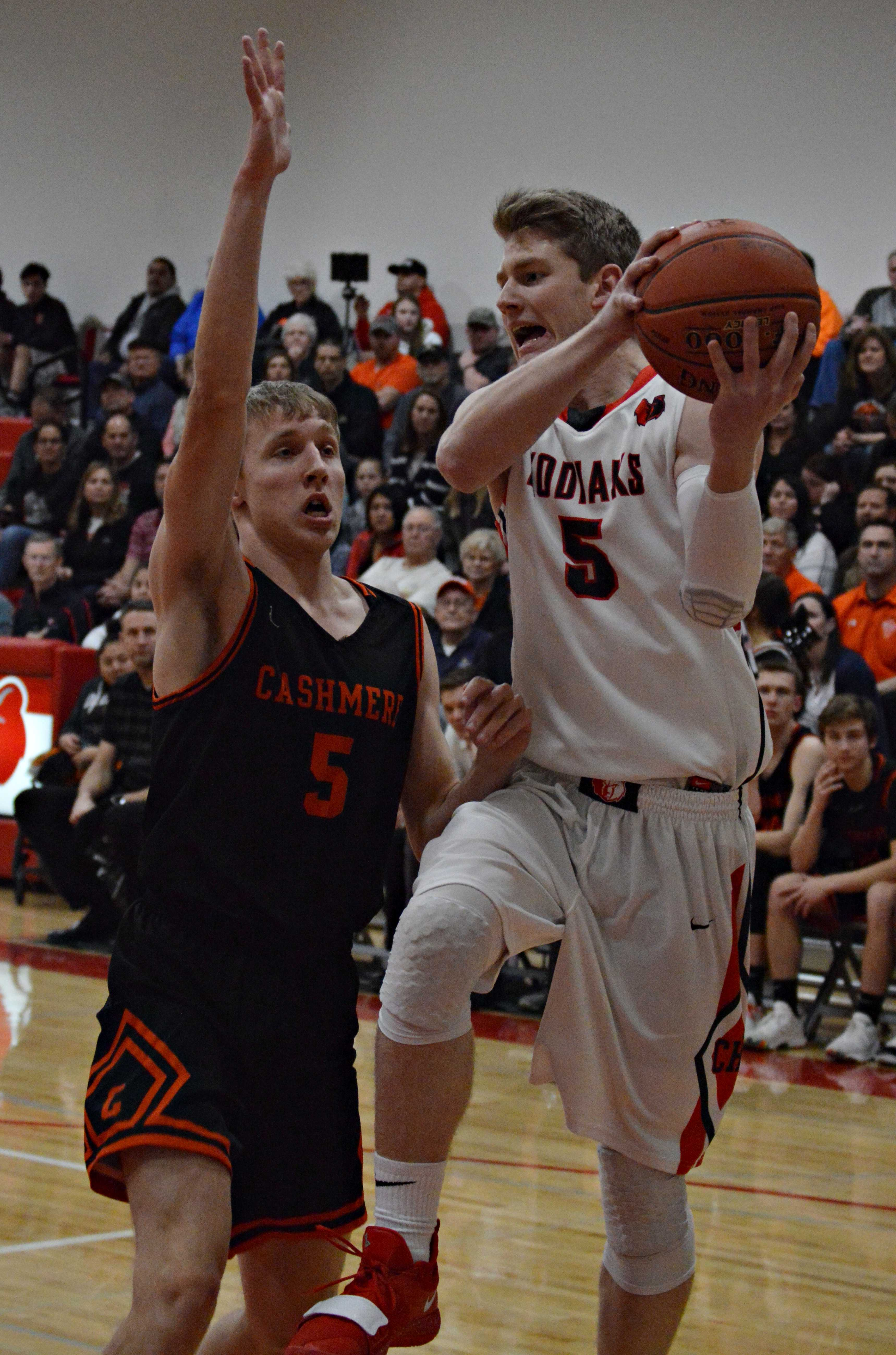 Cole Warnaca goes for two.