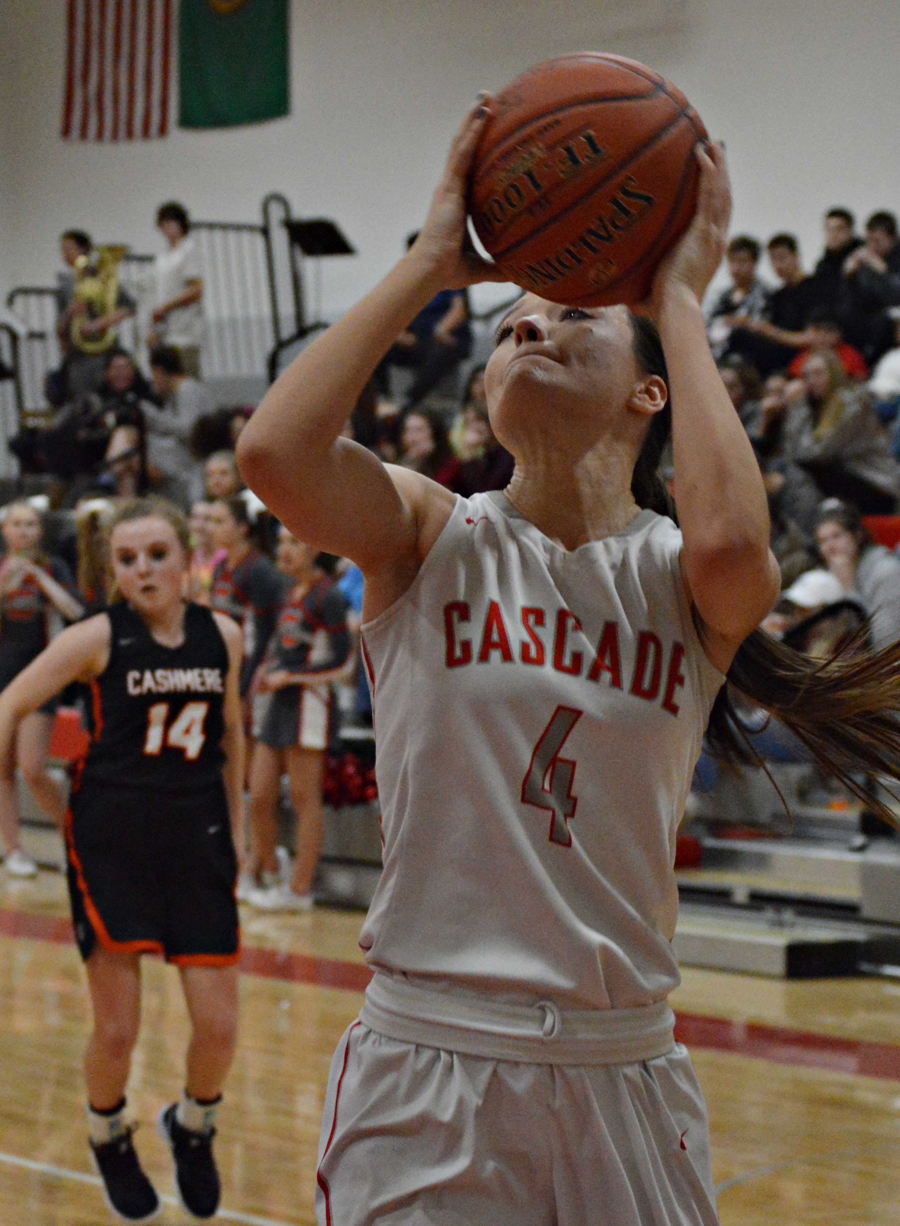 Kaija Lovelady was one of the seniors who wore a Cascade jersey for the last time.