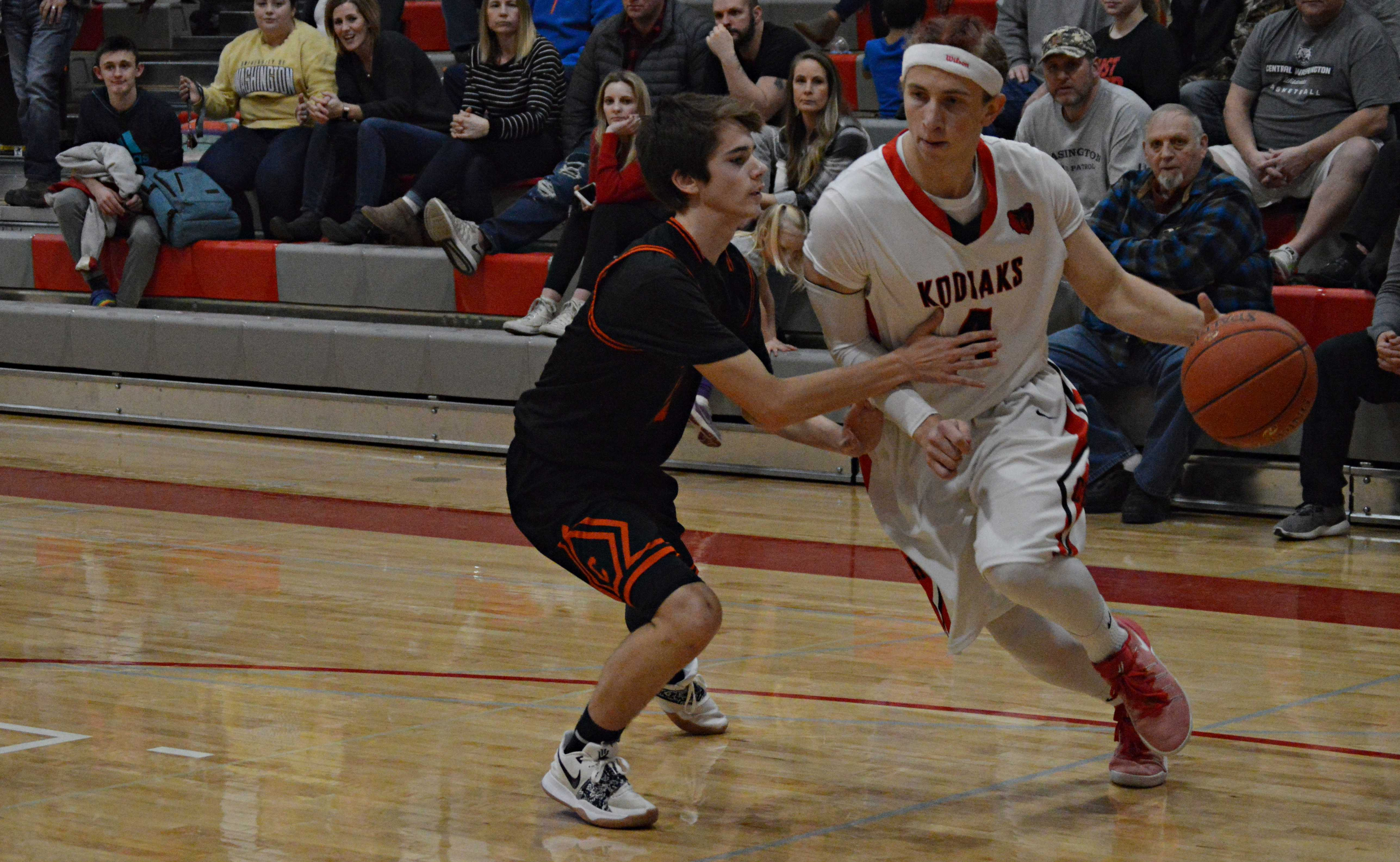 Conrad Hasse finished his CHS basketball career with three points in the fourth quarter.