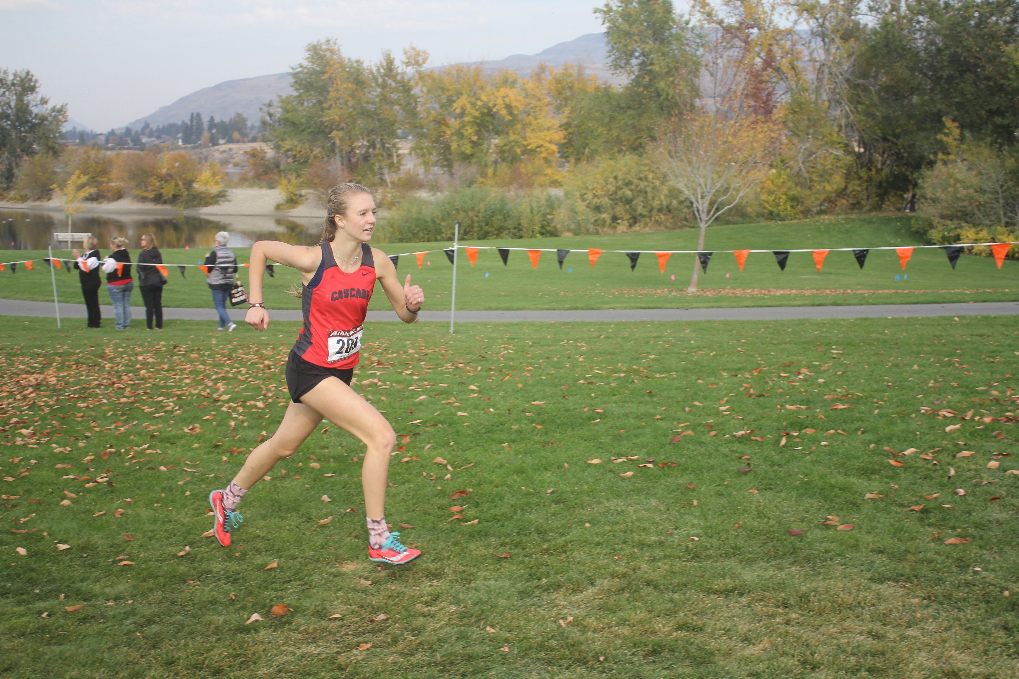 Zoe McDevitt is far ahead of her competition as she takes first place.